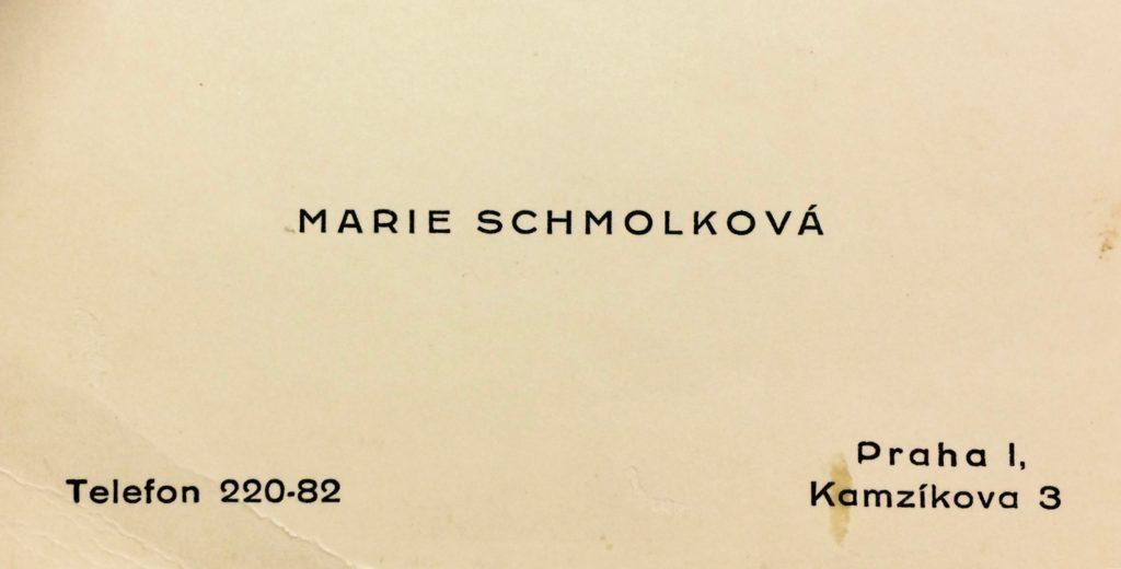 Marie Schmolková, 23. 6. 1893 – 27. 3. 1940